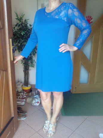 Wizytowa suknia gumowana rozmiar XXL
