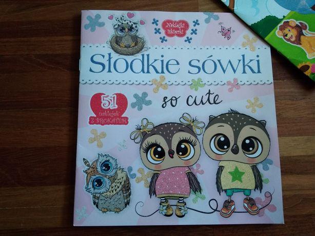 Książka dla dzieci z naklejkami Słodkie sówki