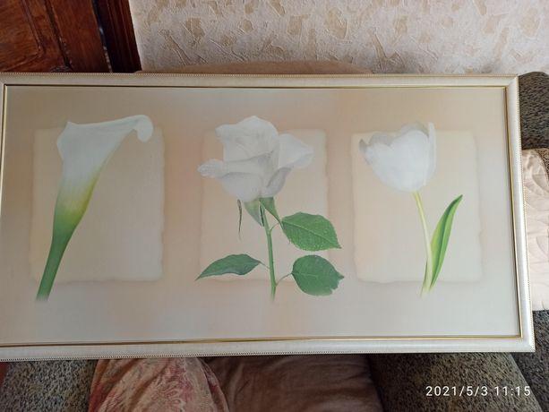 Картина цветы фотопечать