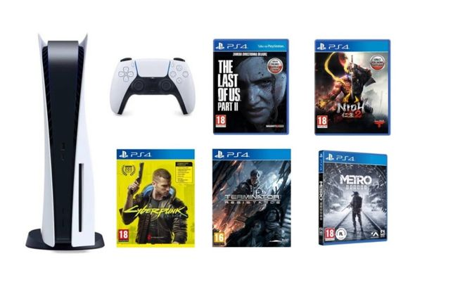 PS5 Playstation 5 BLU-RAY 825GB +DualSence+ 5 gier