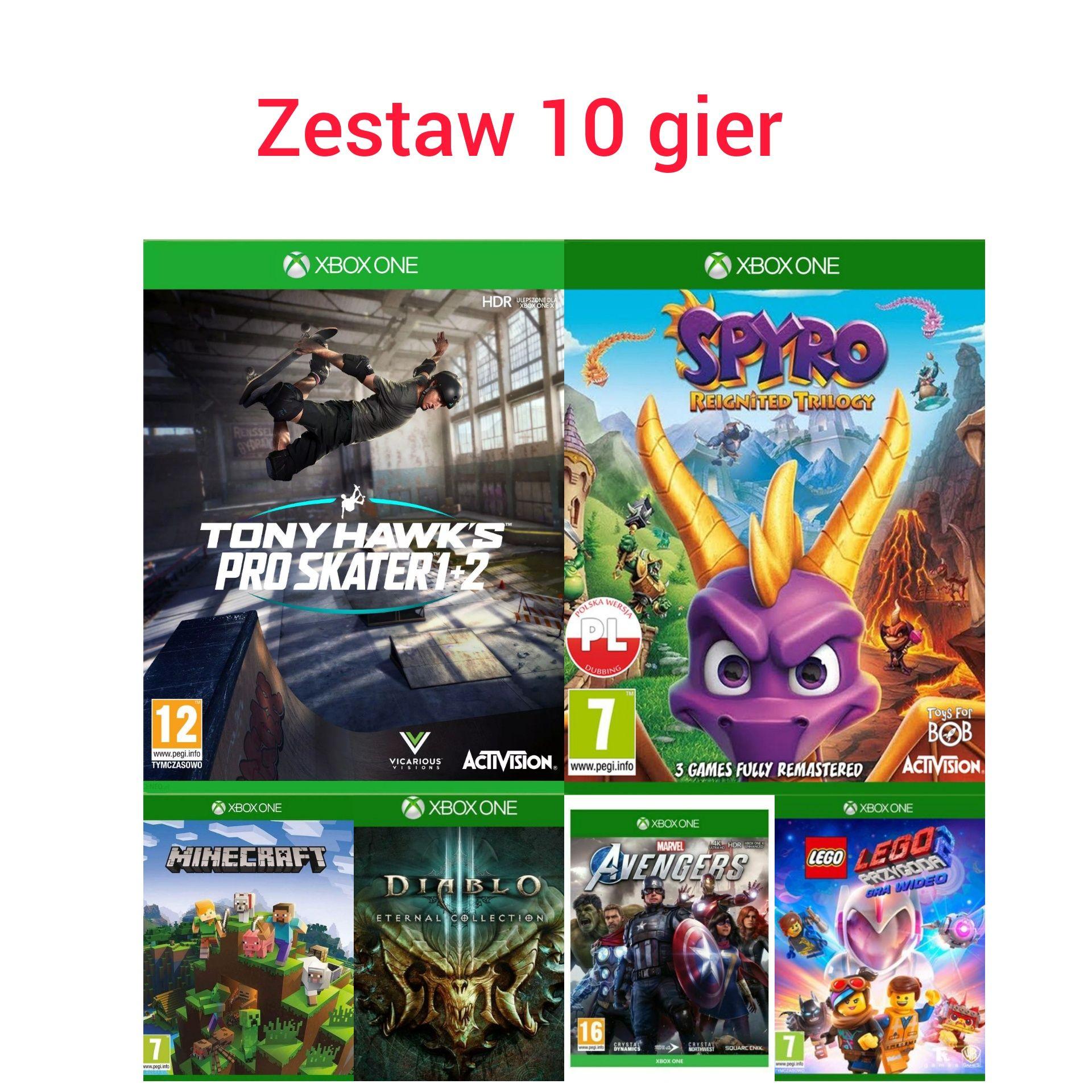 Gry Xbox one,Spyro,Tony Hawk,Diablo 3,Marvel Avengers,Minecraft,Cod