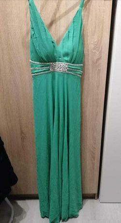 vestido comprido novo verde de cerimonia
