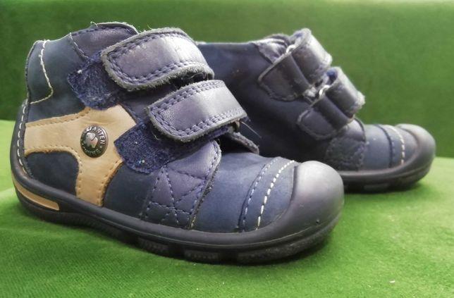 skórzane trzewiki, buty chłopięce ELEFANTEN r. 20