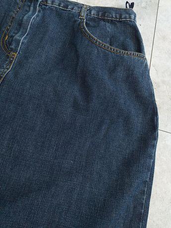 Długa spódnica jeansowa xl 42 44