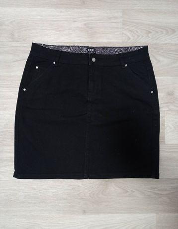Юбка чёрная джинсовая