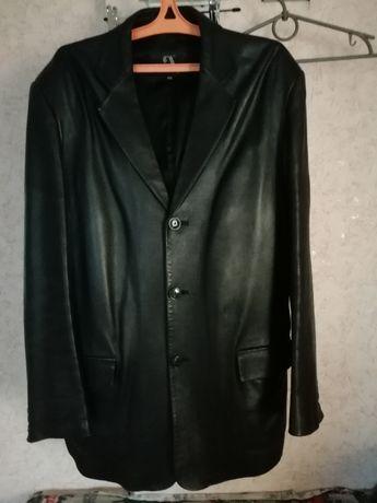 Пиджак кожанный, мужской