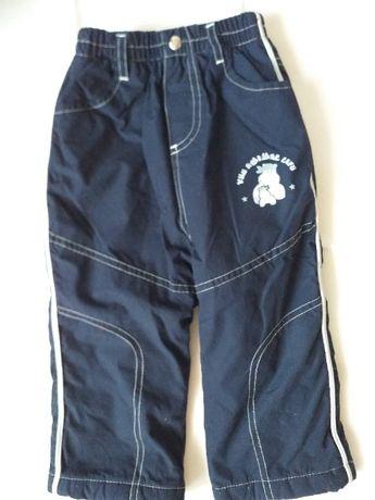 Spodnie dziecięce ocieplane - zimowe, rozmiar 86