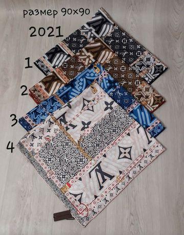 Женский шёлковый платок шарф палантин  Louis Vitton,Gucci, Hermes