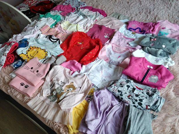 Zestaw ubranek na dziewczynke roz. 74 dresiki body bluzeczki