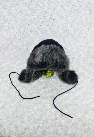 Зимняя подростковая шапка с ушами