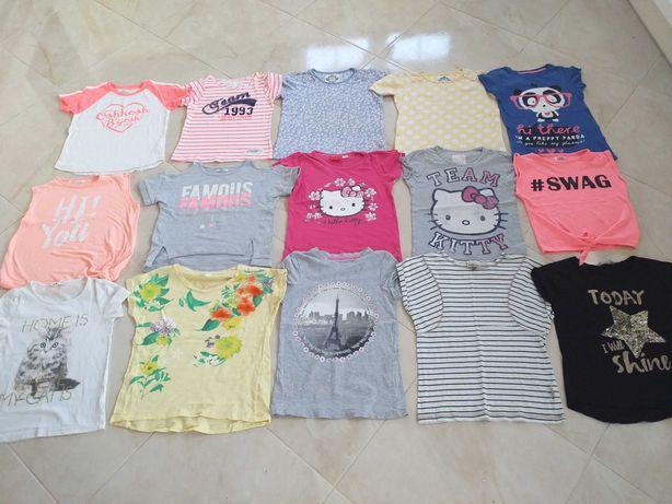 Bluzki krótkim rękawem dla dziewczynki r 134-140