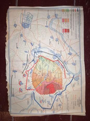 Карта Париж 1956 года