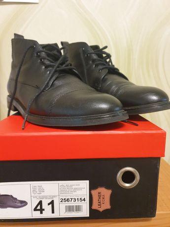 Модные КОЖАННЫЕ ботинки фирмы Pierre Cardin