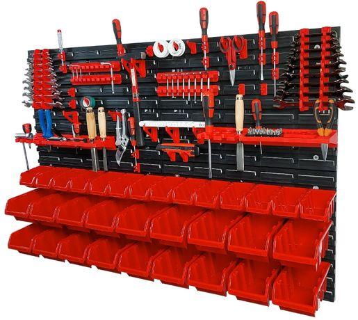 Tablica warsztatowa narzędziowa 115x78 ścianka pojemniki kuwety zestaw