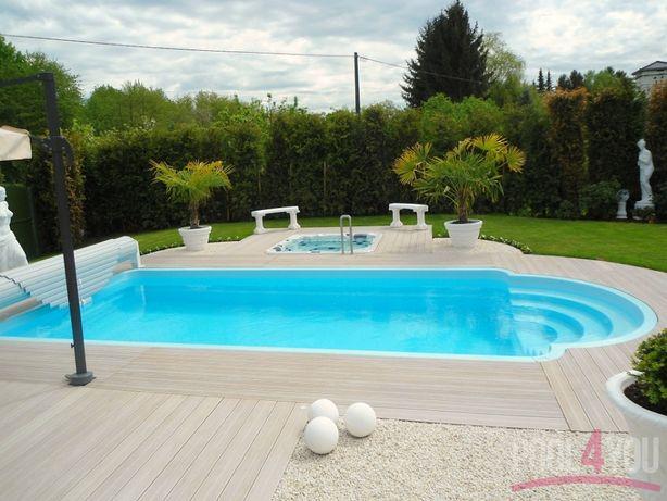 Basen ogrodowy kąpielowy gotowy 6,3x3,2x1,55PRODUCENT Kompletny zestaw