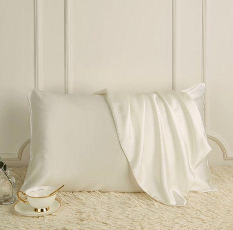 Jedwab 100 % poszewka na poduszkę prawdziwy naturalny jedwab biały