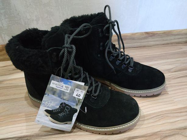 Замшевые зимние ботинки, сапоги, walkx
