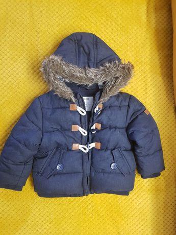 Śliczna zimowa kurtka Okaidi rozm 80