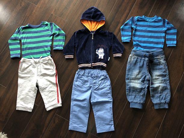Paka dla niemowlaka r. 74 - bluza, body, spodnie, jeans