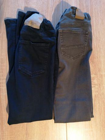 Spodnie H&M i Zara r. 140 cena za dwie sztuki