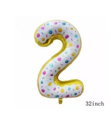 Zestaw Balonów XXL foliowych na drugie urodziny