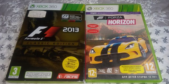 Gry xbox 360 - wyścigowe wyścigówki - Kultowa Forza Horizon i F1 2013