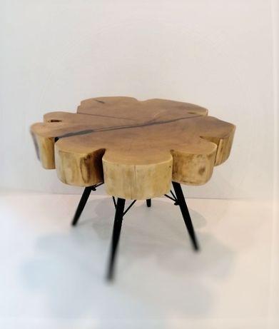 Stolik kawowy z plastra akacji