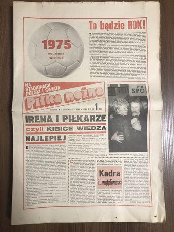 Tygodnik Piłka Nożna rocznik 1975 komplet