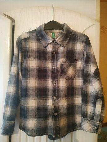 Стильная рубашка в клеточку Benetton