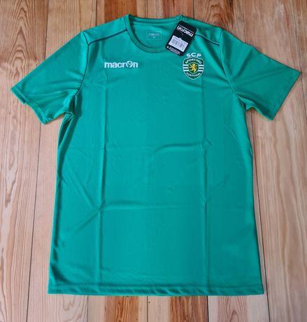 T-shirt Sporting ( Macron ) 2020/2021 Tamanho XL Novo