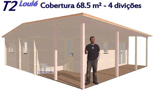 T2 Loulé cobertura 68.5m 4 divições 44 ou 190mm parede Casa de madeira