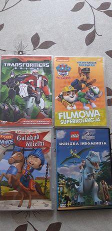 Płyty dvd psi patrol, transformers, lego.