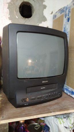 Telewizor kineskopowy Philips z odtwarzaczem VHS