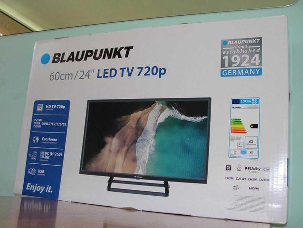 """Nowy telewizor BLAUPUNKT 24"""" LED BN24H1132EEB pobór 21W czarny GWAR24M"""
