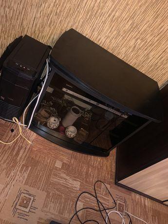 Sprzedam stolik szafka RTV czarna BARDZO DOBRY STAN