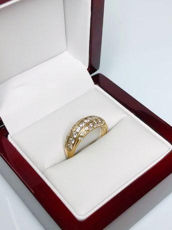 śliczny złoty pierścionek p585 3,66g
