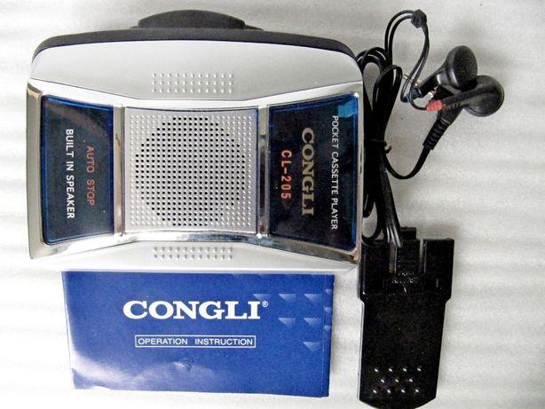 Плеер кассетный Congli CL-205 в коллекцию 2002 года, автостоп, новый