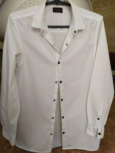 Рубашка школьная белая NEXT на 15 лет