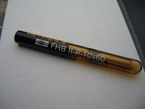 Chemiczna ampułka żywiczna Fischer FHB II-P 10x60 kotwa