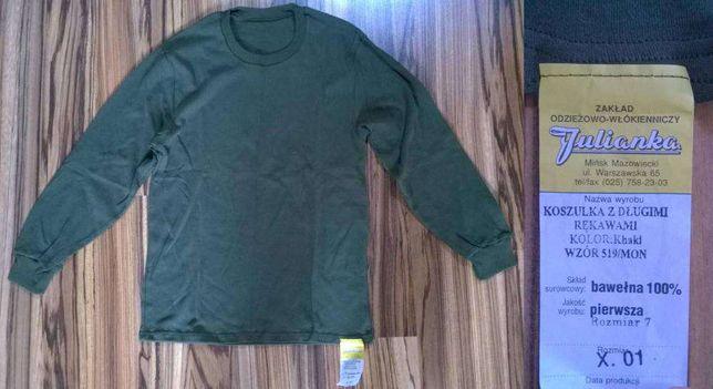 koszulka z długim rękawem khaki rozmiar 7