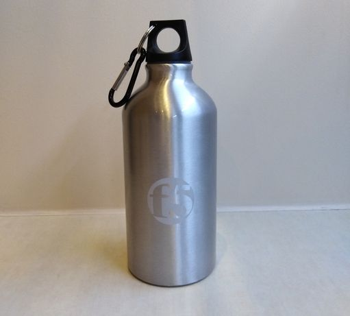 Bidon, butelka na wodę aluminiowa 0,5l | nowa, prezent, karabińczyk