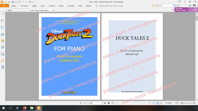 Duck Tales 2 nuty na fortepian (Piano Book)