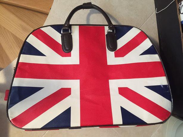 Malote - mala viagem bandeira Union Jack - Reino Unido