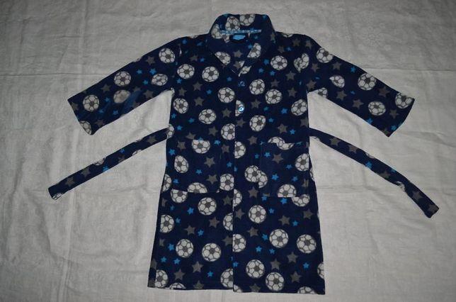 Детский халат на 7-8лет футбольные мячик звезды звездочки слип пижама