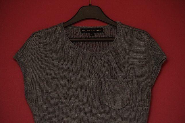 Polo Ralph Lauren рр S-M linen sweater свитерок из 100% льна