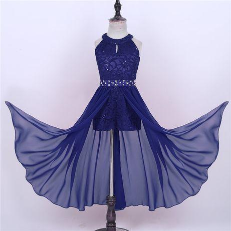 Нарядное платье Шифон Пайетки Стразы Кружево
