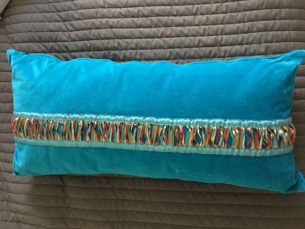 Poduszka turkusowa z wkładem Ikea