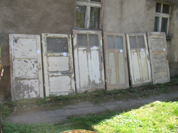 Stare drzwi drewniane 6 sztuk vintage desing