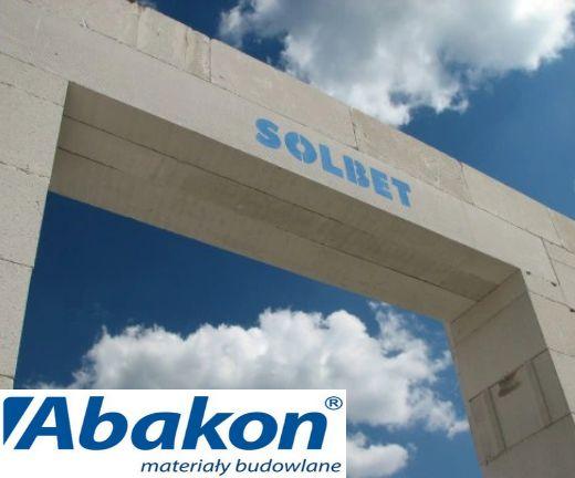 SOLBET Nadproża zbrojone z betonu komórkowego /ABAKON