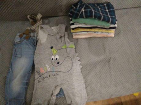 Paka ubrań 74 zestaw małego chłopca 10 szt